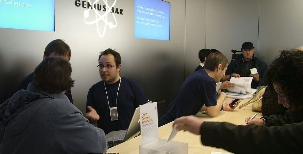 De l'expérience client… en Amérique: Le Genius Bar