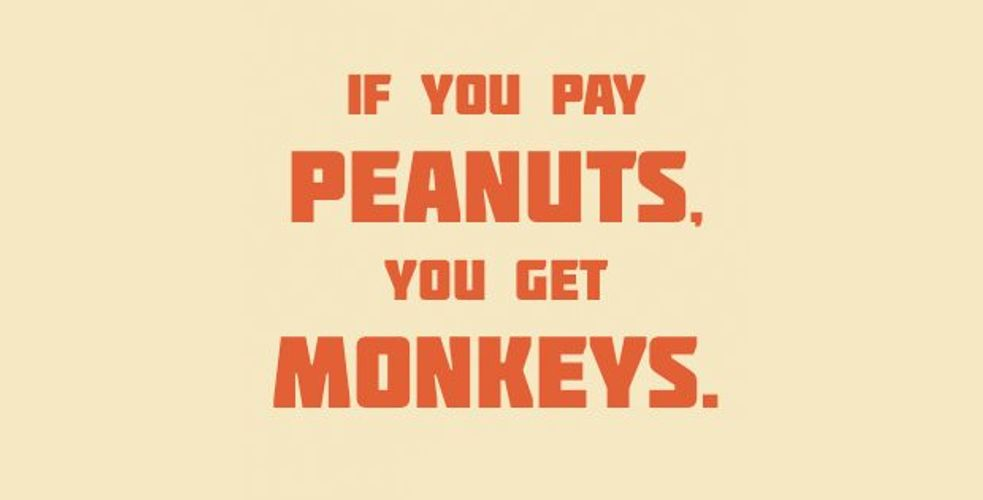 If you pay peanuts, you get monkeys  – Free, on n'a rien compris
