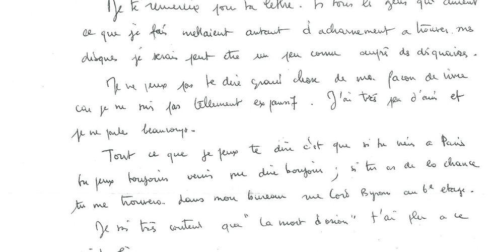 Avis clients, engagement des fans: il y a cinquante ans, après La Mort d'Orion, Gérard Manset répondait à ses fans. Par courrier !